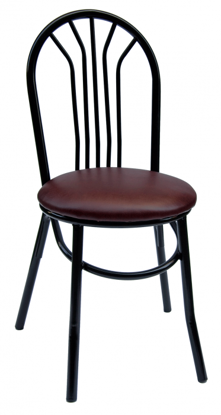 Picture of 101ABCBL-BL Loretto Cafe Chair - Gloss Black -  Vinyl Seat
